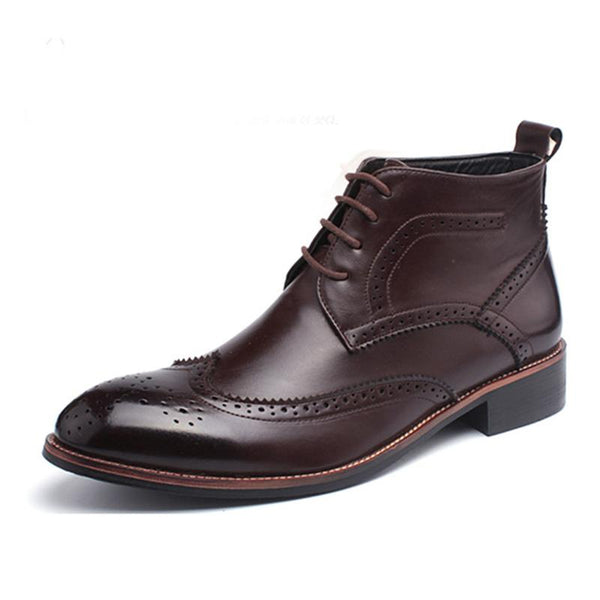 British Style Brogue Design Fashion Men Boots