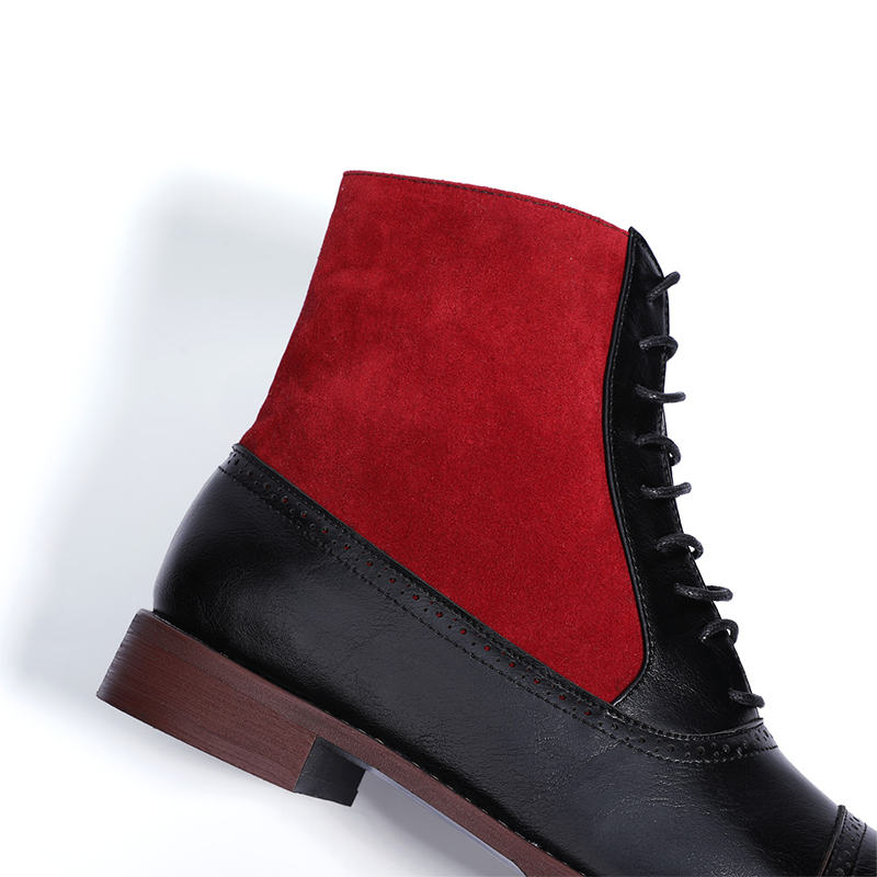Retro Tie Hit Color Medium Boot
