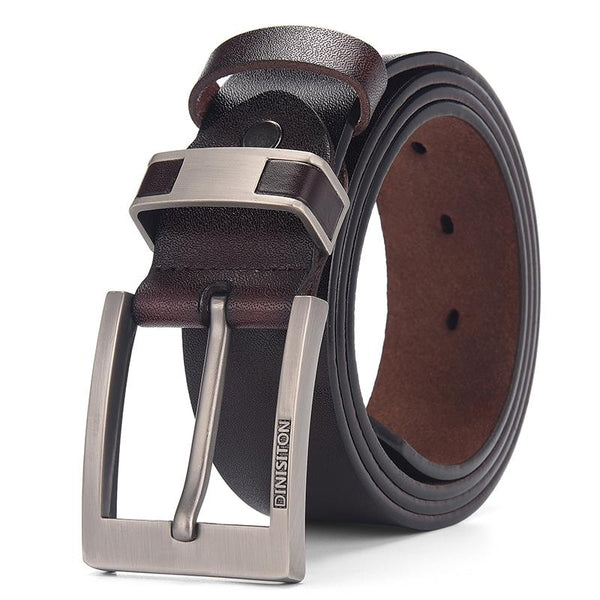 Vintage Alloy Buckle Casual Cow Leather Belt