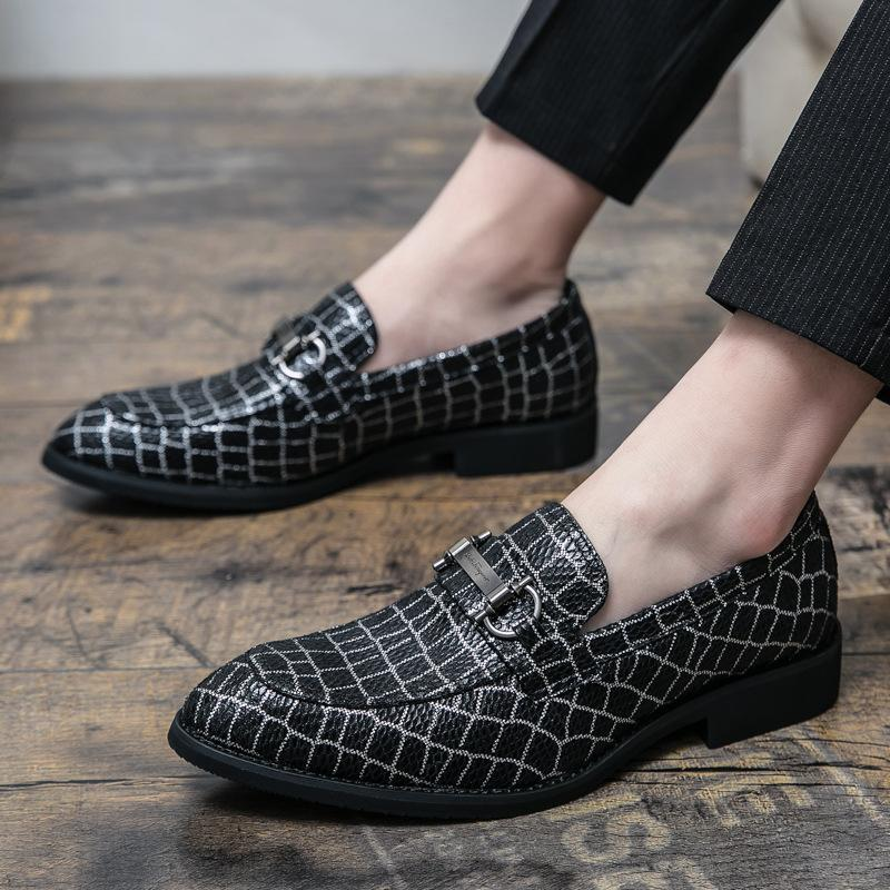 Black Pattern Casual Loafer