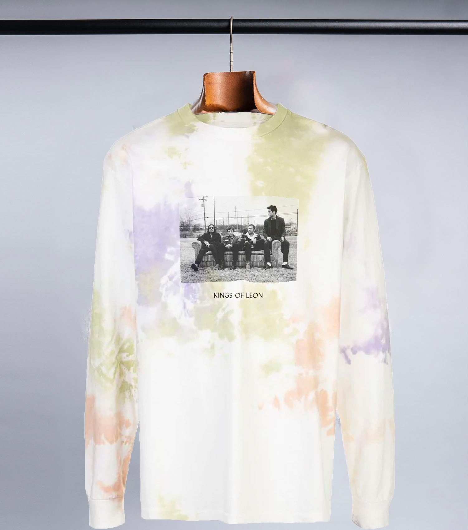 Kings of Leon Tie-Dye Long Sleeve (White/Tie Dye)