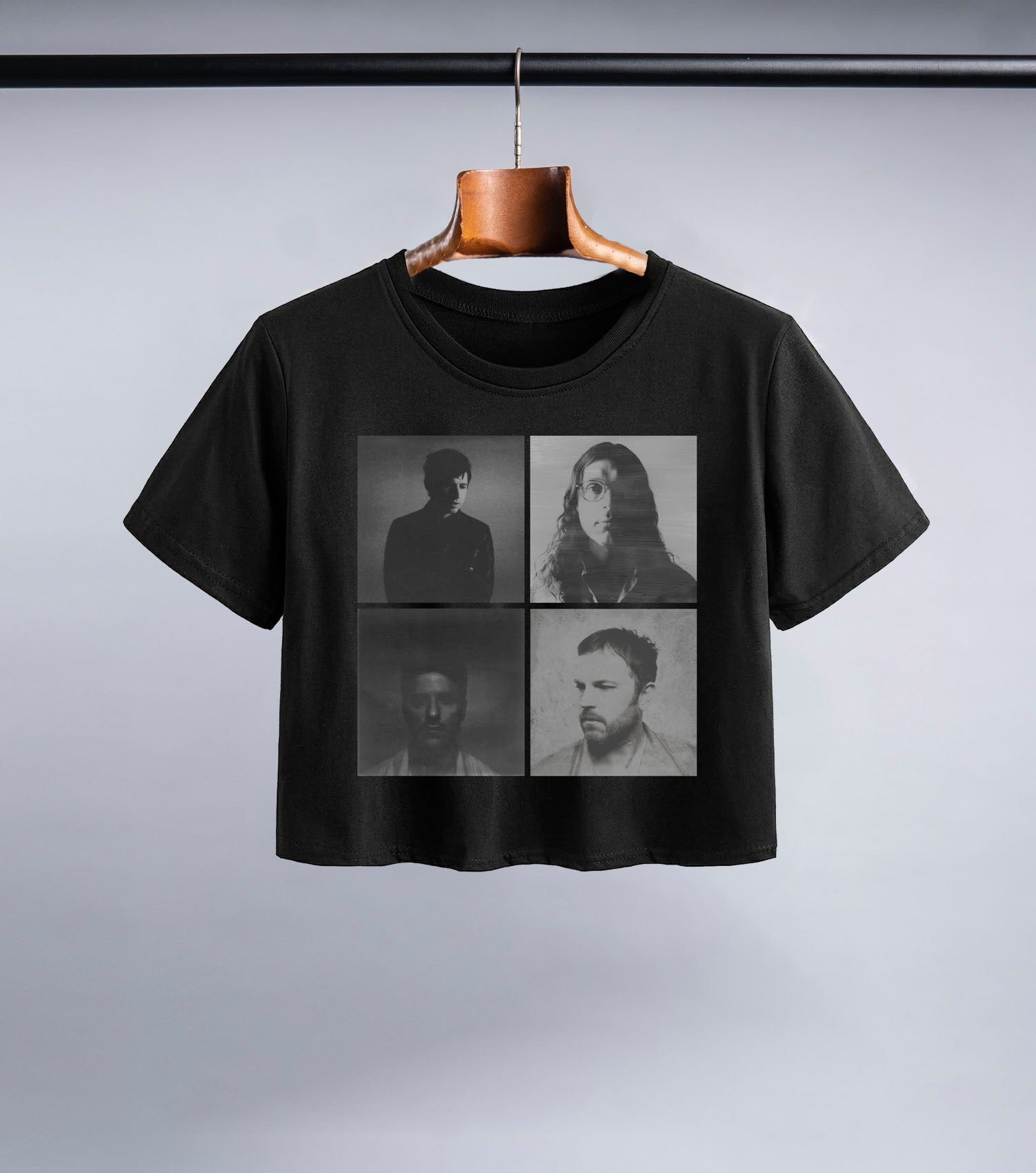 KOL Portraits Short Sleeve Crop (Black)
