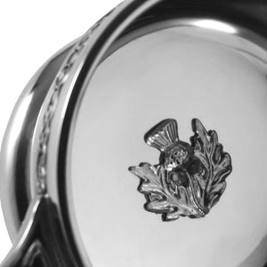 3.5 Celtic Handle Quaich With Thistle Badge
