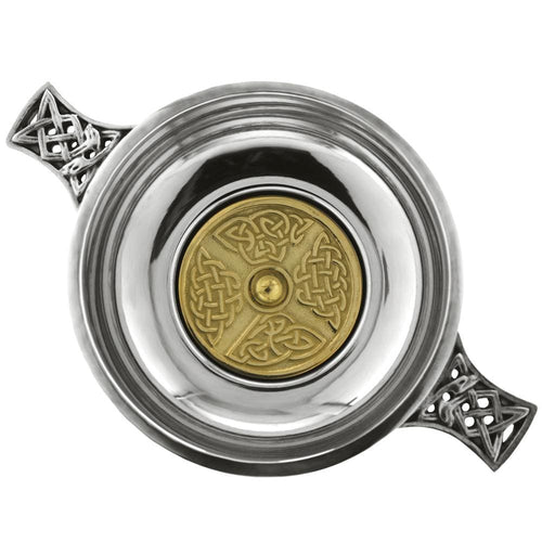 3.5 Celtic Quaich With Brass Bottom