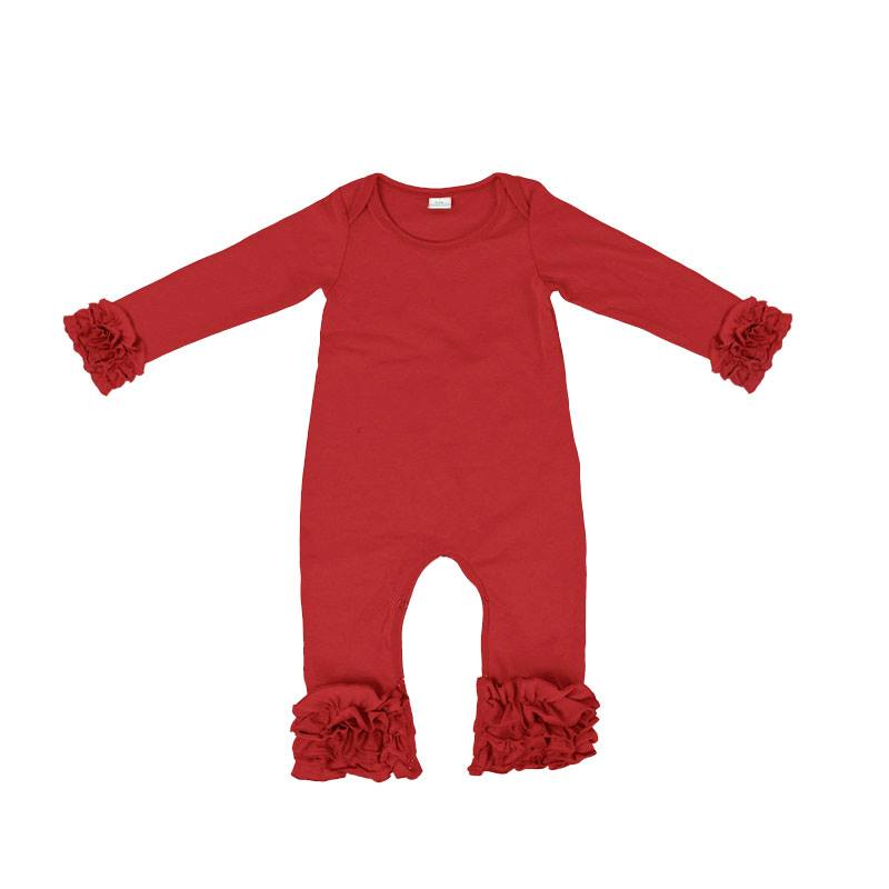 Girls Icing Romper - RED
