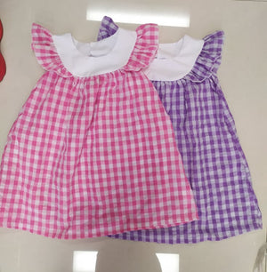 Gingham Yoke Dress