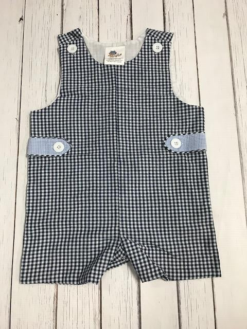 Gingham Jon Jon: Navy and Light Blue