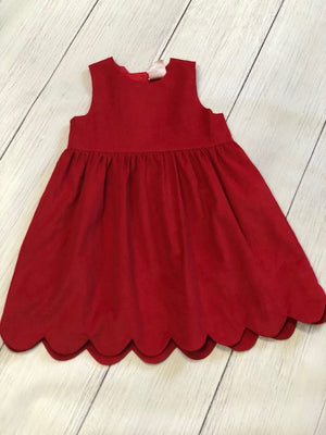 Corduroy Scallop Aline Dress