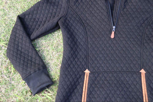 Front Pocket Quilted Pullover - Four Colors