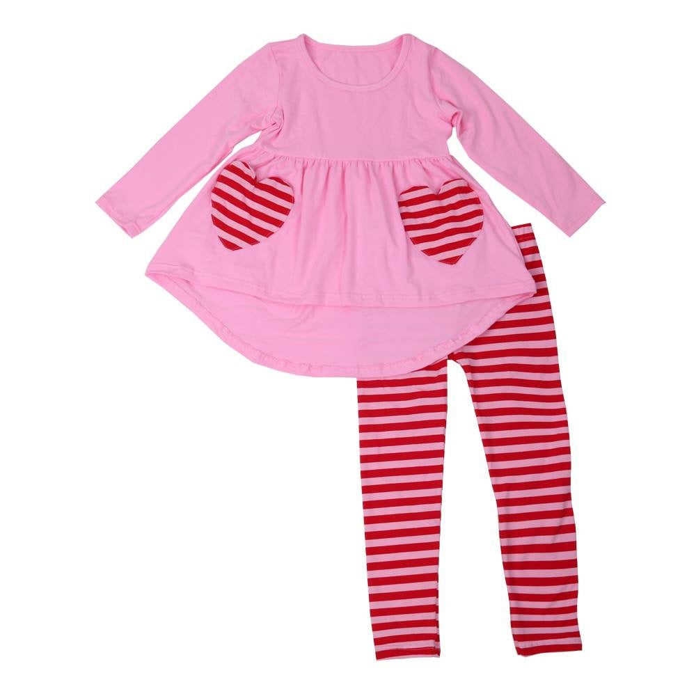 Valentines Day Heart Pants Set