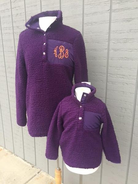 Sherpa Pullover -CHILD- Purple