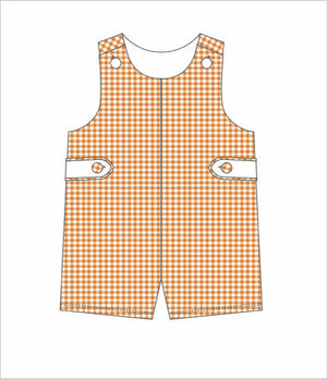 Orange/White Gingham Jon Jon