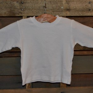 Boys White Longsleeve Shirt - blank