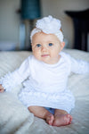 White Icing Ruffle Infant Gown