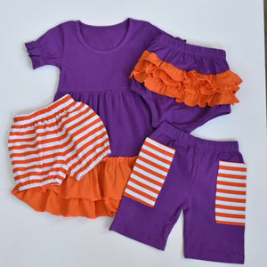 Purple/Orange Stripe Pocket Shorts