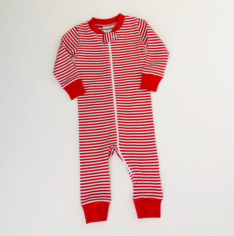 Red Stripe Drop Seat Pajamas Pre-Order