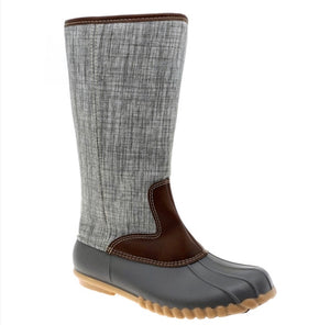 Tall Duck Boots - Grey