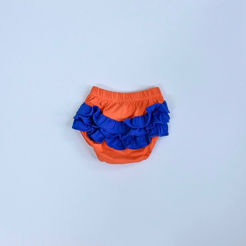 Orange/Royal Ruffle Bloomers
