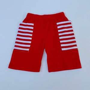 Red/White Stripe Pocket Shorts