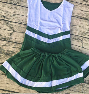 PRE-ORDER #6—Green/White Cheer Outfit