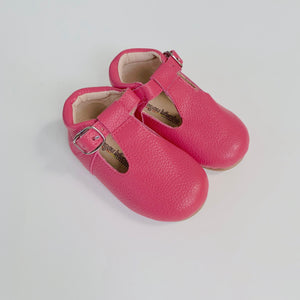Clearance T-Strap Shoes - Bottom of shoe measures 8.5 inches - misprinted size - NO RETURNS or EXCHANGES