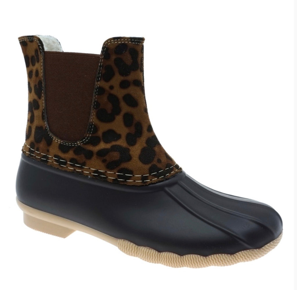 Slip on Duck Boots - Leopard