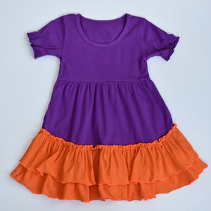Purple/Orange Ruffle Dress