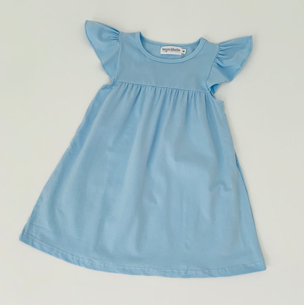 Baby Blue Flutter Sleeve Dress
