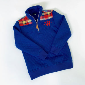 1/4 Zip Youth Quilted Pullover