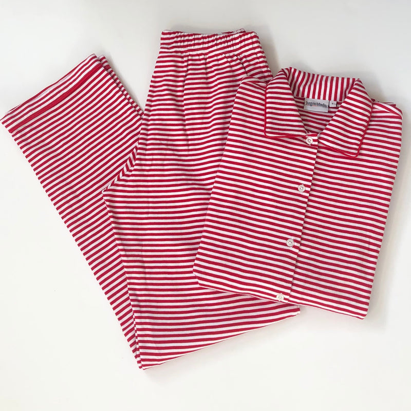 Red Stripe Unisex Adult Pajama Set Pre-Order