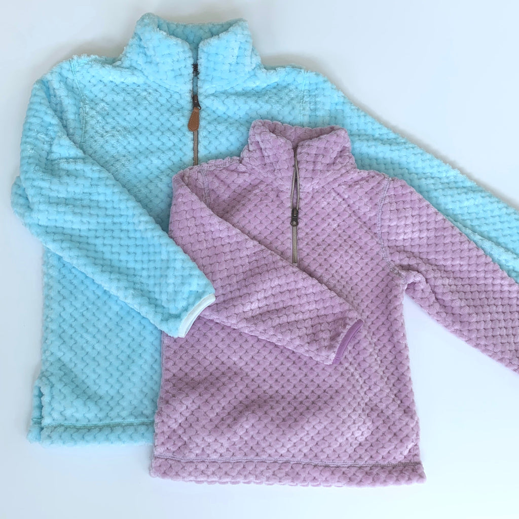 1/4 Zip Youth Minky Pullover