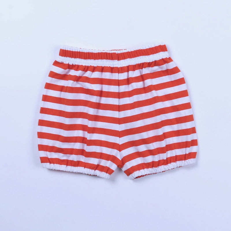 Orange/White Stripe Bubble Shorts