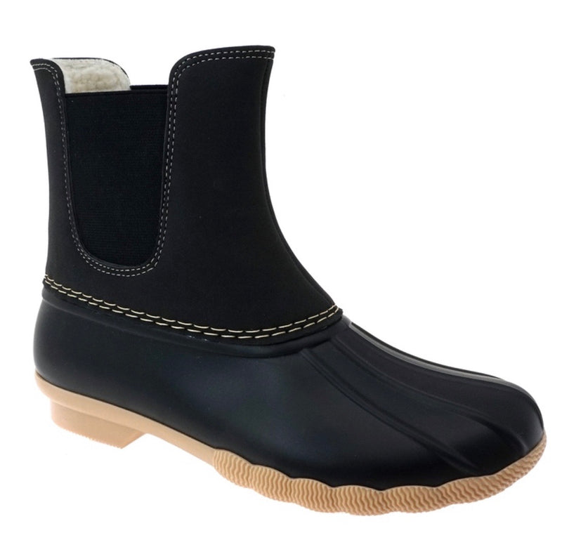 Slip on Duck Boots - Black