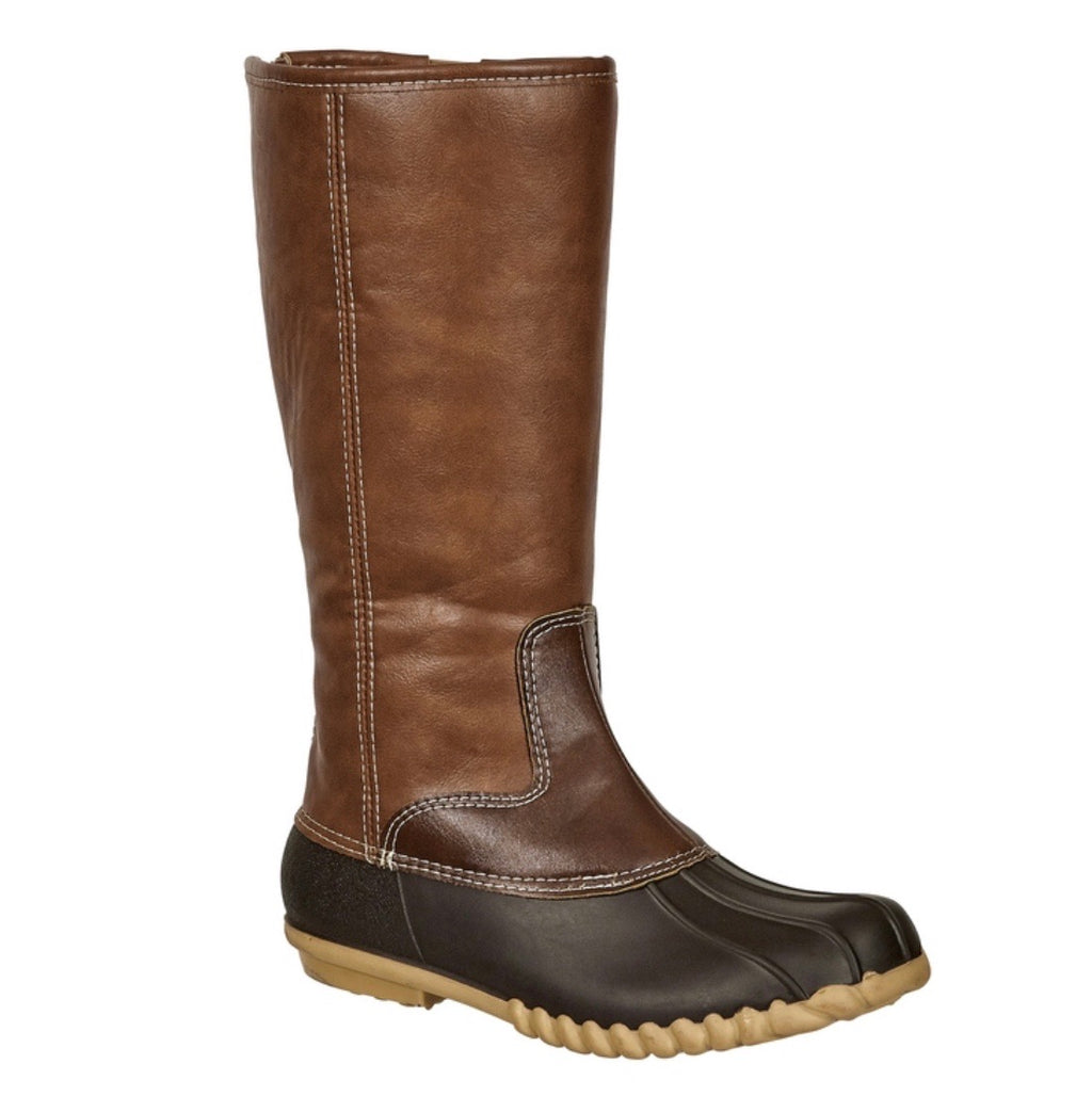 Tall Duck Boots - Brown