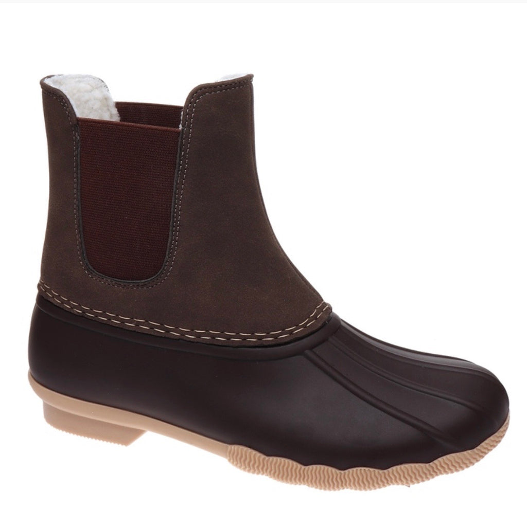 Slip on Duck Boots - Brown