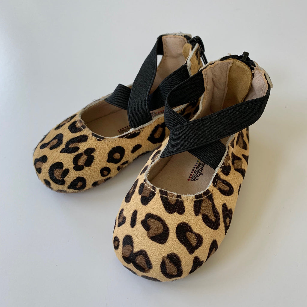 Leopard Ballet Flat Shoes