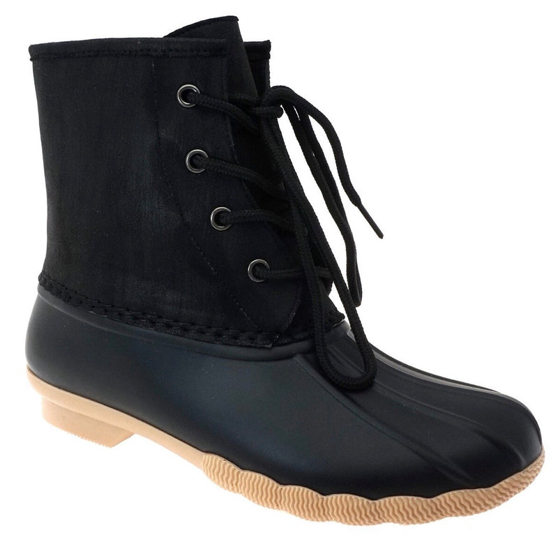 Short Duck Boots - Black