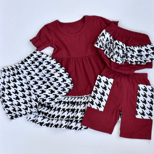 Houndstooth Bubble Shorts