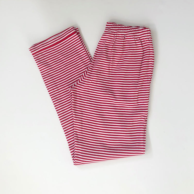 Red Stripe Unisex Adult Pajama Pants Pre-Order