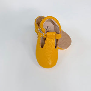 Mustard T-Strap Shoes