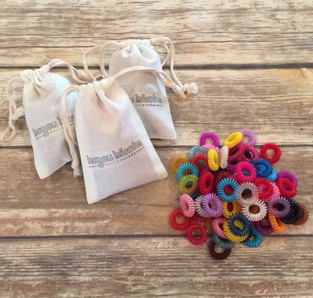 Spiral Hair Ties - 1 Bag of 20