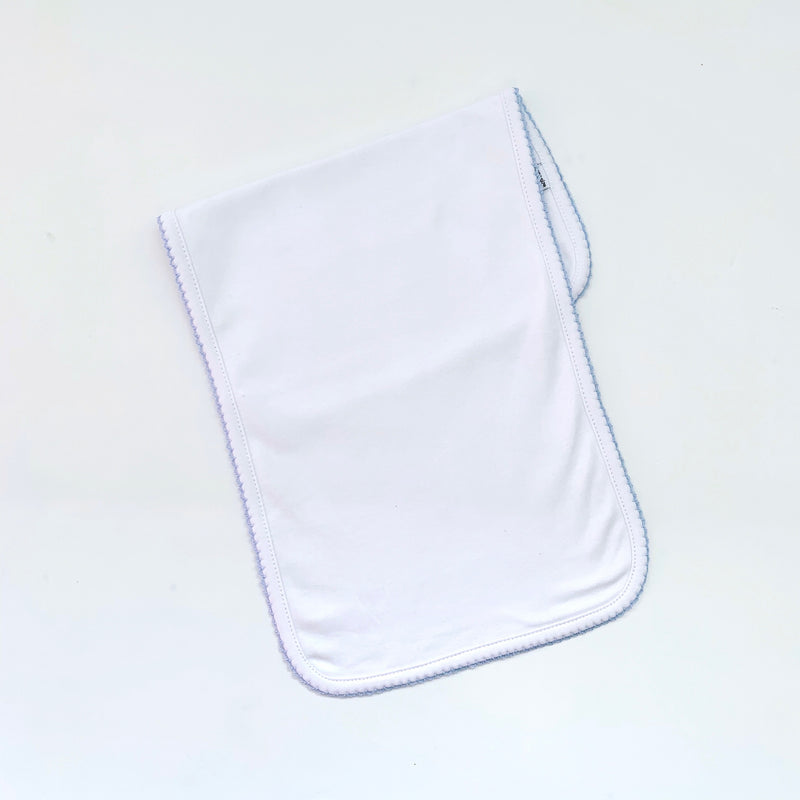 Picot Trim Burp Cloth
