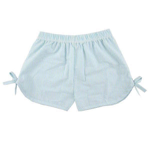 Aqua Girls Side Tie Seersucker Shorts