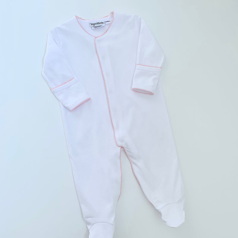 Organic Cotton Footie with Picot Trim and Hidden Snaps