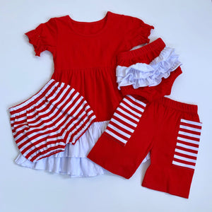 Red/White Ruffle Bloomers