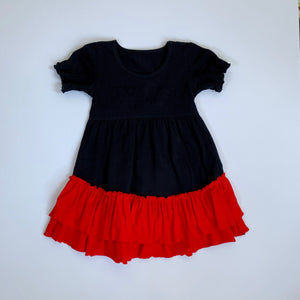 Black/Red Ruffle Dress