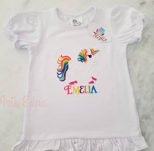 Girls Ruffle Short Sleeve Shirt