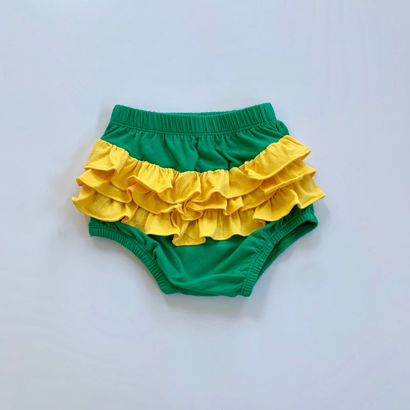 Green/Gold Ruffle Bloomers