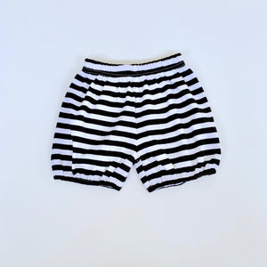 Black/White Stripe Bubble Shorts