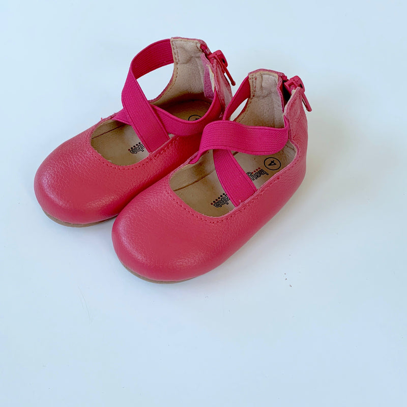 Berry Ballet Flat Shoes